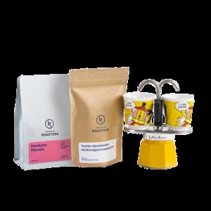 két személyes kotyogós kávéfőző csomagban